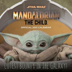 Calendrier Mural 2021 - The Mandalorian - L'Enfant