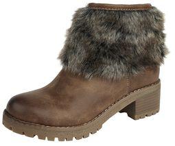 Boots À Fausse Fourrure