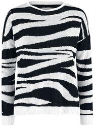 Pull Jacquard Zoe Zebra