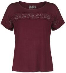 T-Shirt mit Häkelspitze