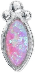 Labret Push-Fit Opale Argent & Rose