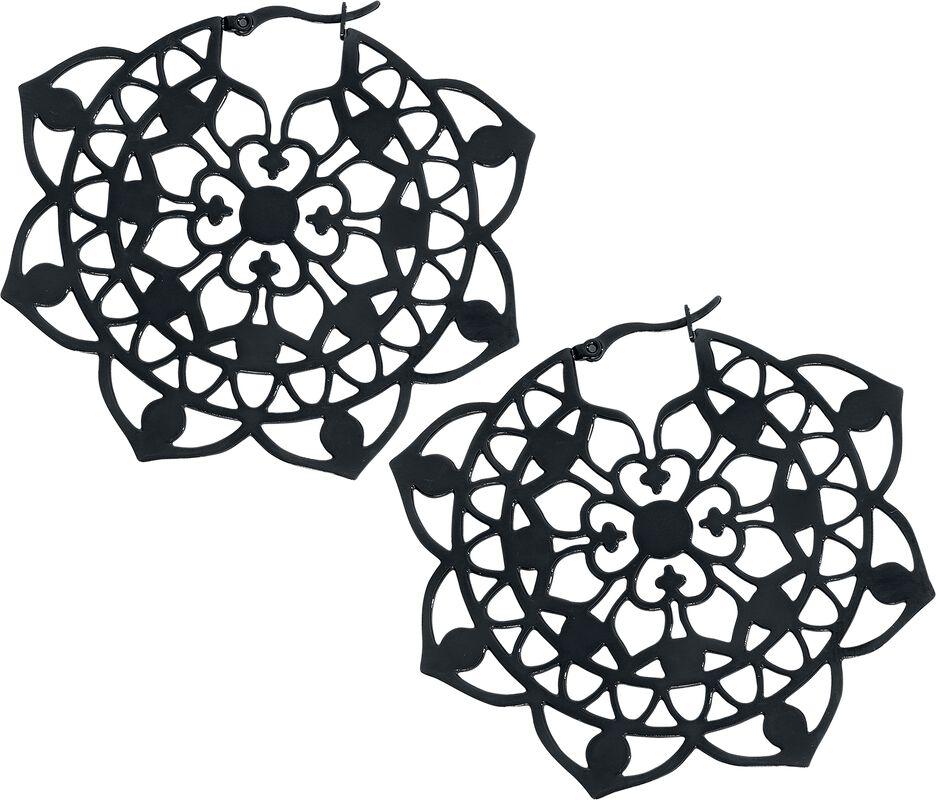 Boucles d'Oreilles Créoles Florales