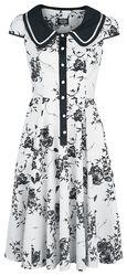 Robe De Jour Noire & Blanche Florale