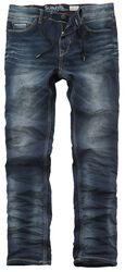 Pantalon 5 Poches En Jersey Aspect Jean