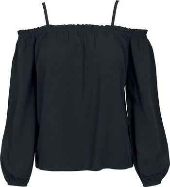 T-Shirt Manches Longues Épaules Dénudées