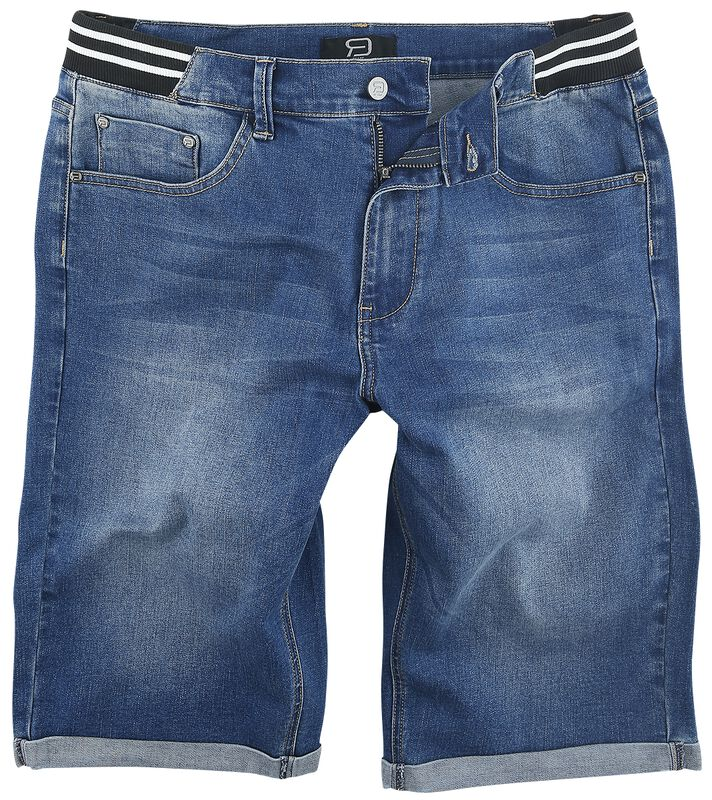 Short En Jean Bleu Avec Taille