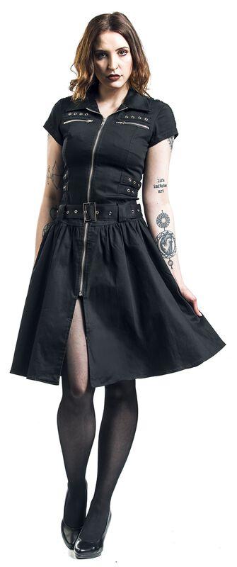 Robe Longue Noire Emo Punk
