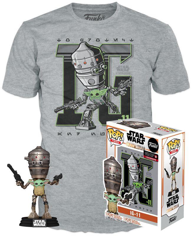 The Mandalorian - IG-11& Grogu - POP! & T-Shirt