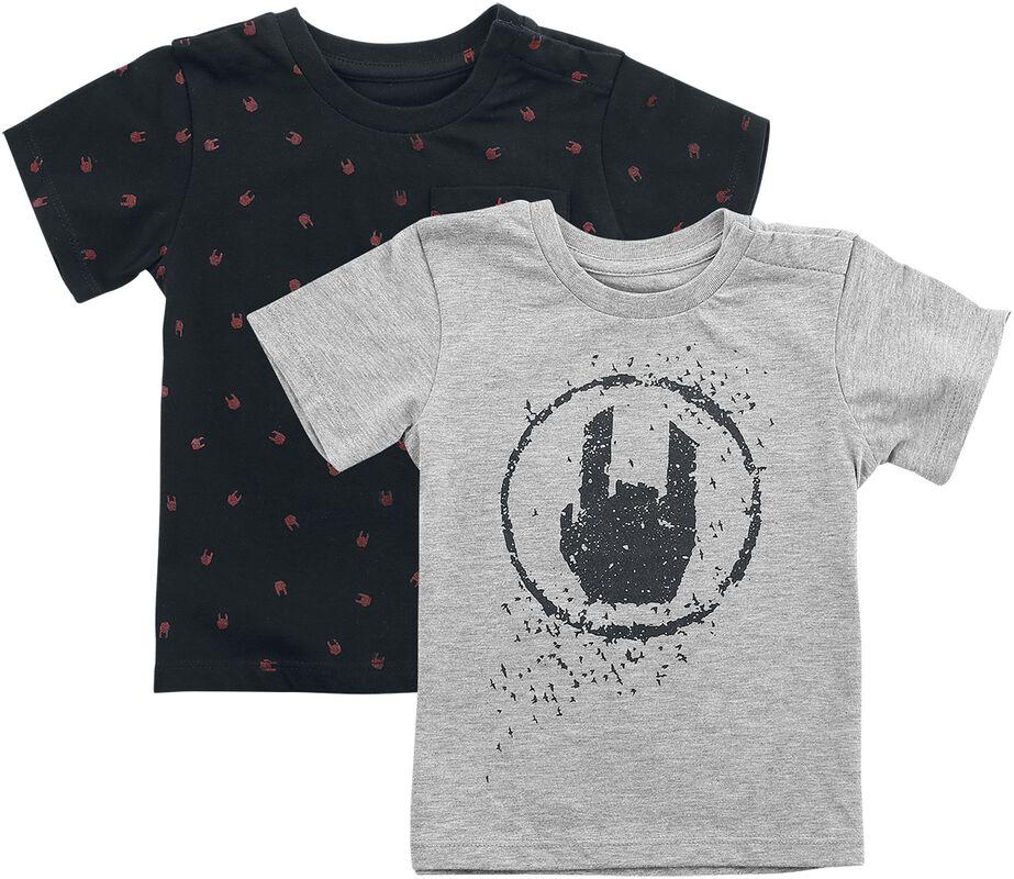 T-Shirts Noir/Gris - Lot De 2