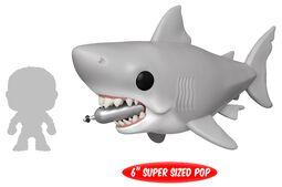 Les Dents De La Mer - Grand Requin Blanc Avec Bouteille De Plongée (Oversize) - Funko Pop! n°759