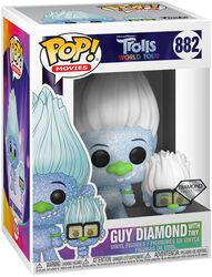 Les Trolls : Tournée Mondiale - Guy Diamond & Tiny (Éd. Diamond) - Funko Pop! n°882
