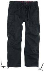 Pantalon Noir Cargo Avec Cordon