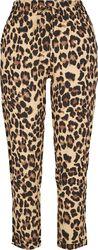 Pantalon léopard avec ceinture élastique