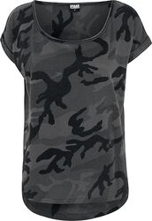T-shirt Camouflage Back Shaped
