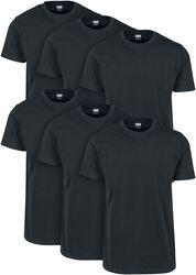 Lot de 6 T-shirts Basiques