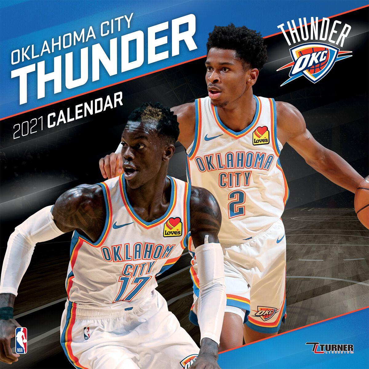 Calendrier Nba 2021 Oklahoma City Thunder   Calendrier 2021 | NBA Calendrier mural | EMP