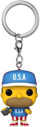 Homer USA - Pop! Keychain
