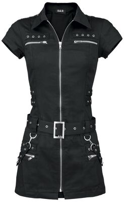 Robe zippée noire