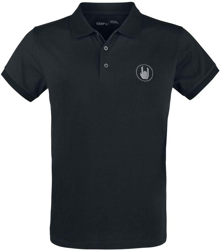 Polo Noir Avec Broderie