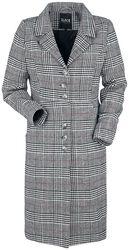 Manteau À CarreauxNoir/Blanc