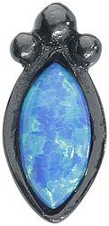 Labret Push-Fit Opale Noire & Bleue