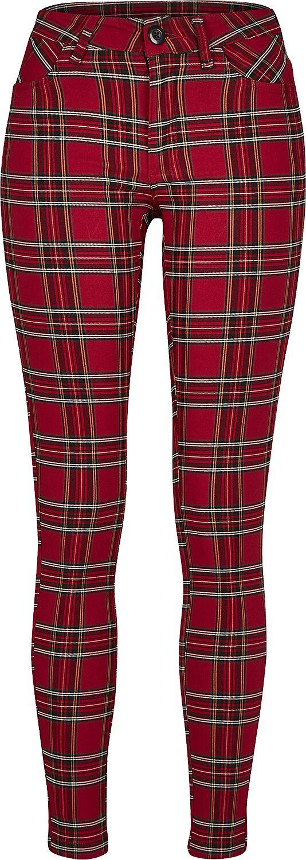Pantalon Skinny Tartan Femme   Urban Classics Pantalon en toile   EMP