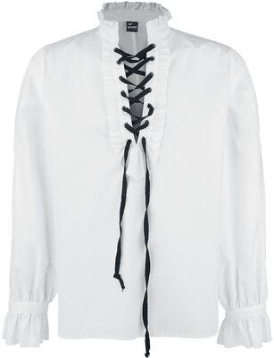 Chemise à fronces et à laçage
