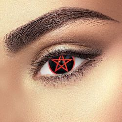 Yeux Pentagramme Rouge