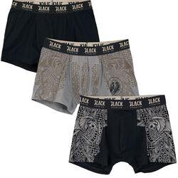 Lot De Boxers Noir/Gris Imprimé Celtiques