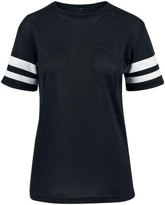 T-Shirt Rayé En Mesh Femme