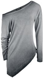 T-Shirt Asymétrique Manches Longues