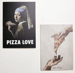 Cahiers Pizza Art - Lot De 2