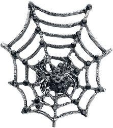 Broche Avec Toile D'Araignée & Araignée