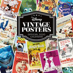 Disney - Calendrier Mural 2020 - Posters Vintage