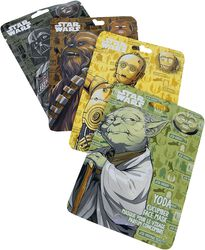 Chewbacca, Yoda, C3PO & Dark Vador