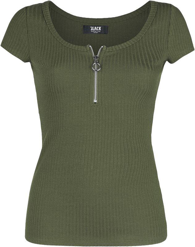 T-Shirt Vert Côtelé