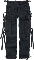 Pantalon Noir Avec Poches & sangles