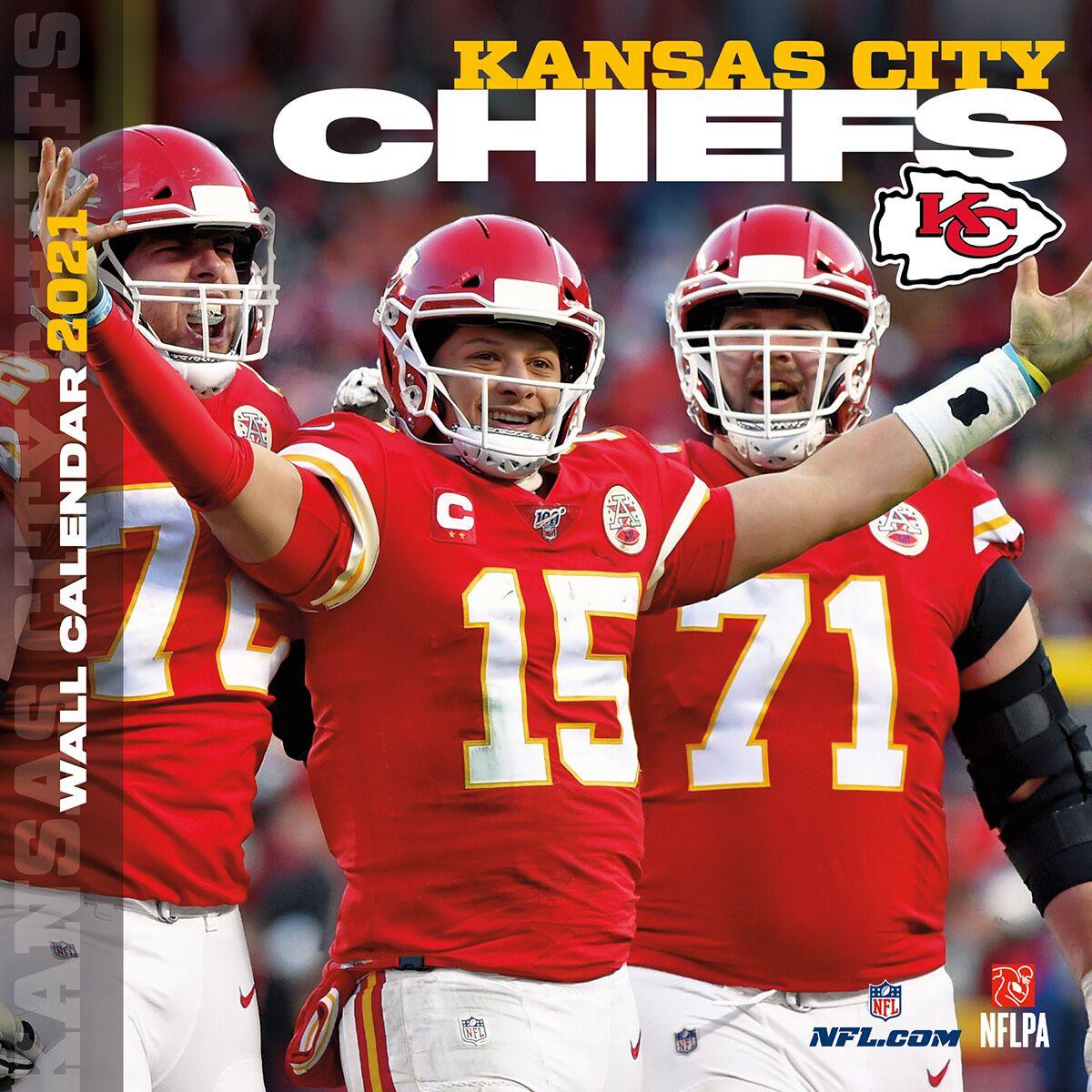 Kansas City Chiefs   Calendrier 2021 | NFL Calendrier mural | EMP