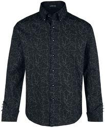Schwarzes Langarmhemd mit Muster und speziellen Details