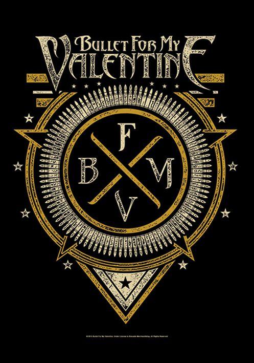 4567b3bd13c9 Emblem   Bullet For My Valentine Drapeau   EMP