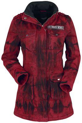 Manteau À Capuche Avec Effet Batik