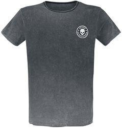 T-Shirt Délavé Avec Patchs
