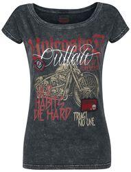 T-Shirt Avec Moto Imprimée